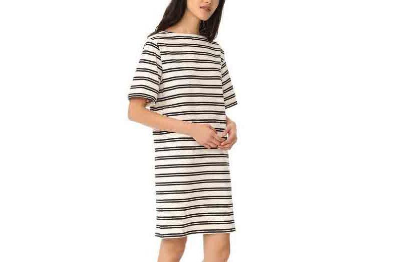 Acne Studios Dodora Stripes T-Shirt Dress