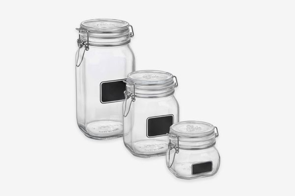 Bormioli Rocco Fido Square Chalk Label Jar