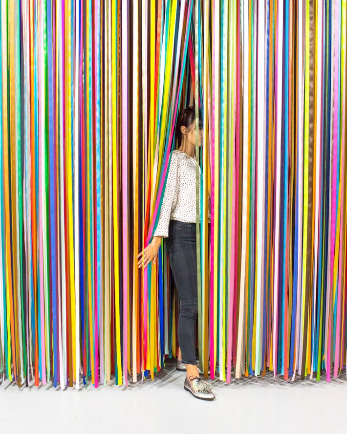 Jacob Dahlgren's 10,000 multicolored ribbons.
