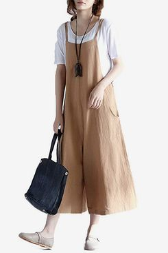 Love Cotton Hulaha Women's Linen Loose-Fit Overalls