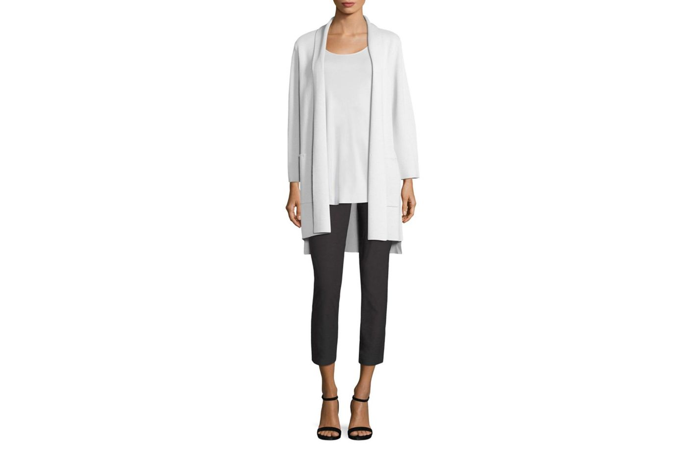 Eileen Fisher Cropped Slim Ankle Pants at Saks Fifth Avenue 89b1376e1c
