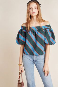 Hope Flowers by Tracy Reese Ginevra Balloon-Sleeved Blouse