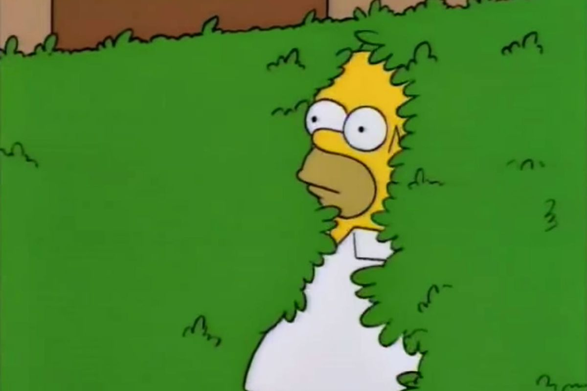 The Story of the 'Homer Simpson Backs Into the Bushes' Meme