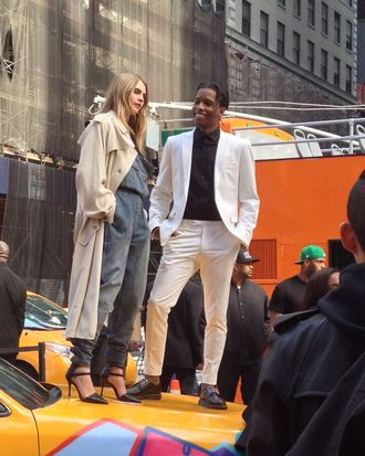 Cara Delevingne and A$AP Rocky.