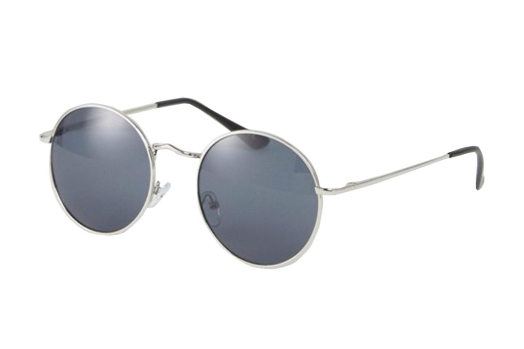 ASOS 90s Metal Round Sunglasses in Silver