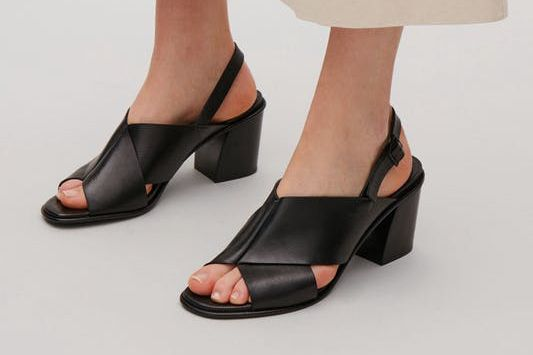COS Folded Strap Sandals in Black