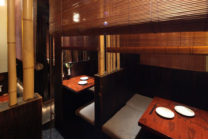 The city s coziest wooden booths at Zenkichi  Photo  Melissa Hom19 Most Romantic Restaurants in NYC. Good Restaurants Nyc For Groups. Home Design Ideas