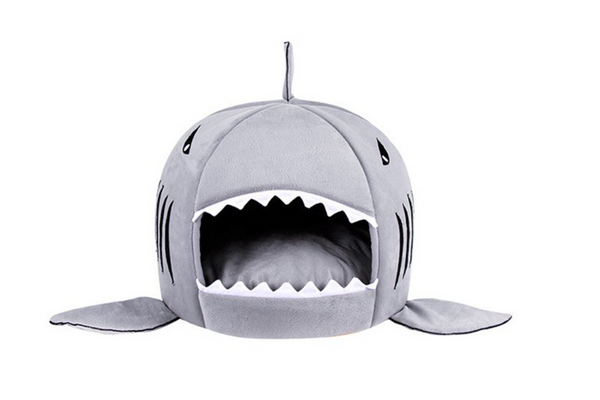 Likedog Shark Pet House Washable Cave Bed