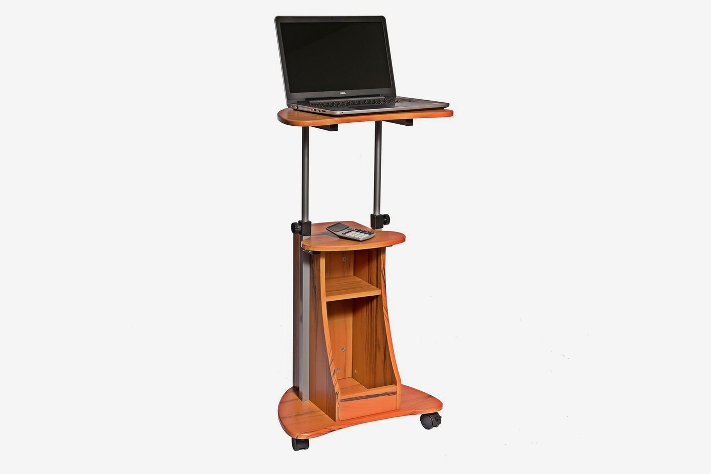 Techni Mobili Adjustable Height Laptop Cart Storage