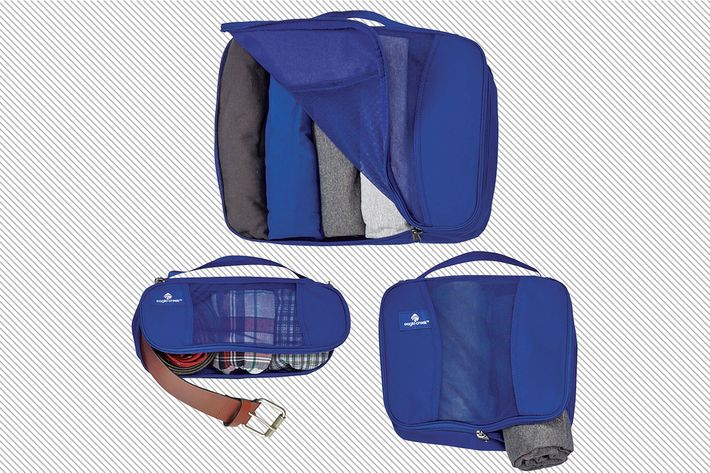 pack it cube set in blue- strategist best travel accessories and best packing cubes