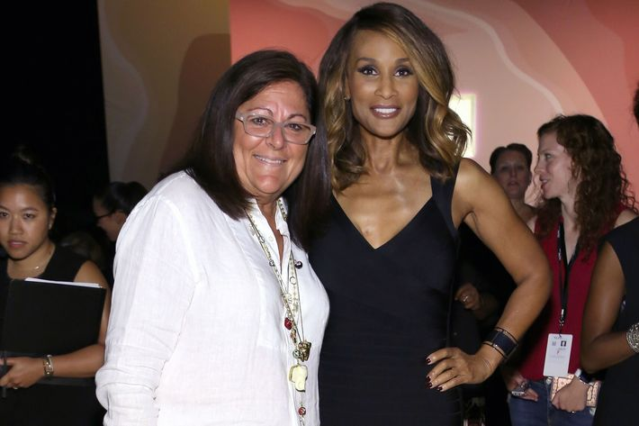 Fern Mallis and Beverly Johnson.