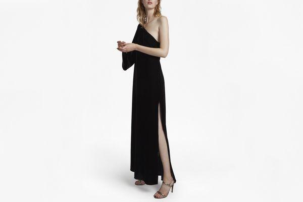 French Connection One Shoulder Velvet Dress