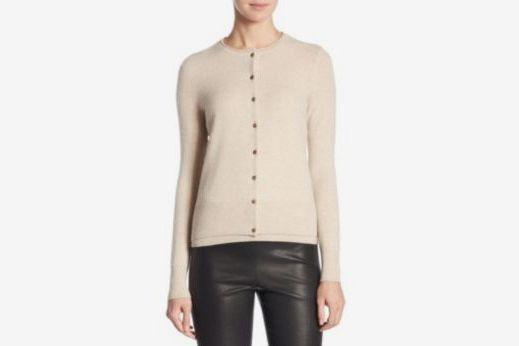Long-Sleeve Cashmere Cardigan