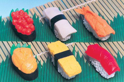 Iwako Japanese Erasers, Set of 6