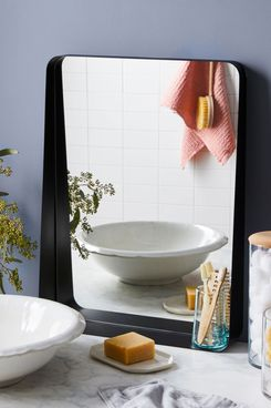 Blomus Modern Black Wall Mirror With Shelf