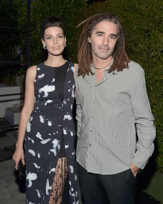 LOS ANGELES, CA - AUGUST 21: Actress Jessica Pare (L) and John Kastner attend Audi's Celebration of Emmys Week 2014 at Cecconi's Restaurant on August 21, 2014 in Los Angeles, California. (Photo by Charley Gallay/Getty Images for Audi)