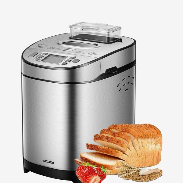 AICOOK 2LB Stainless Steel Bread Machine