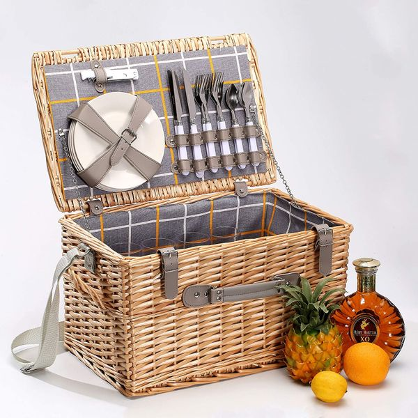 woodluv Willow Picnic Basket