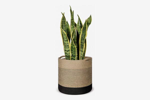 Mkono Jute Plant Basket, 12-Inches Wide