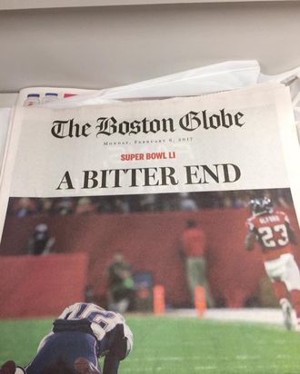 Some Boston Globe Subscribers Woke Up to a Patriots Loss