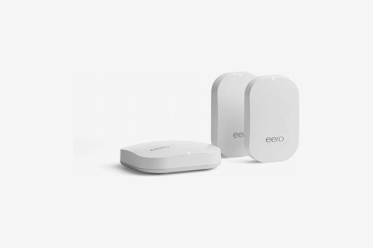 Eero Home WiFi System (1 Eero Base Unit and 2 Eero Beacons)