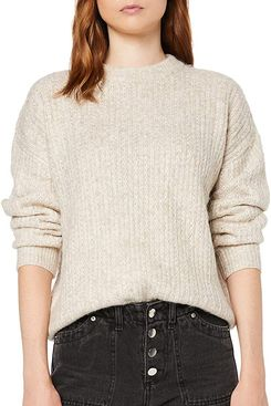 find. Women's Drop Shoulder Chunky Stitch Oversized Sweater