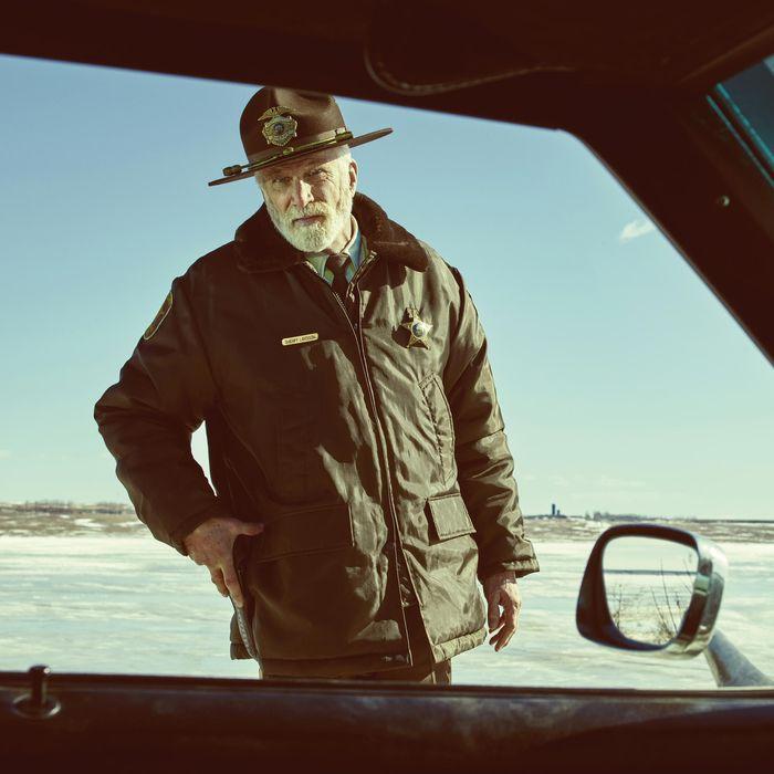 FARGO. Pictured: Ted Danson as Hank Larsson.