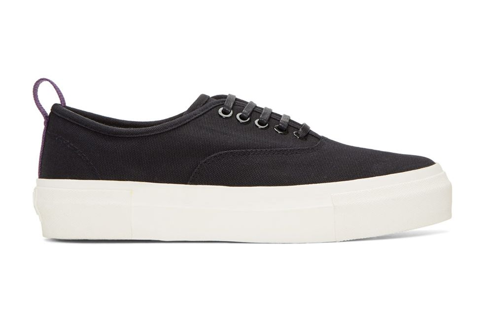 Eytys Black Canvas Mother Sneakers