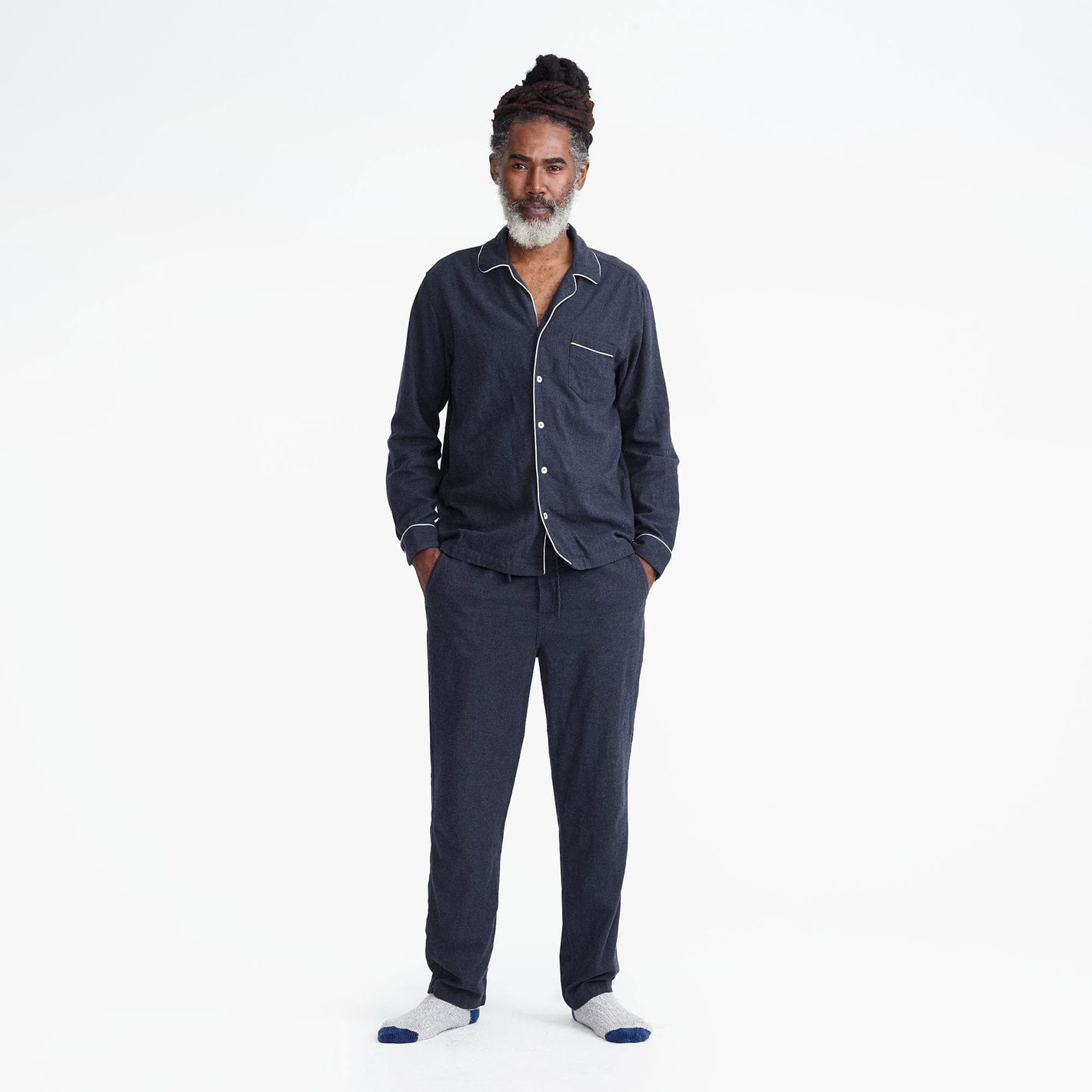 J.Crew Heathered flannel pajama set