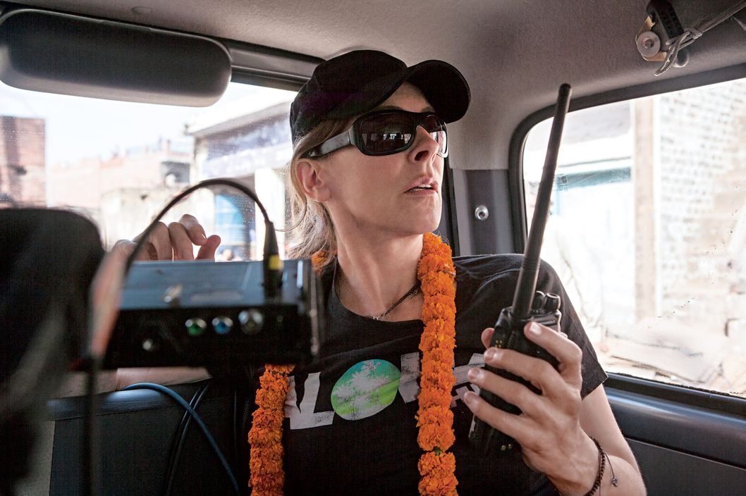 Director/Producer Kathryn Bigelow on the set of Columbia Pictures' thriller ZERO DARK THIRTY.