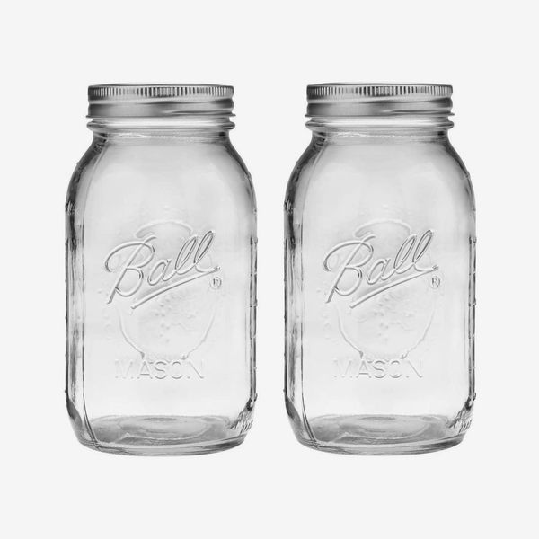 Ball Regular Mouth 32 Oz Mason Jar with Lids and Bands, Pack Of 2