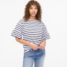 J.Crew Mariner Cloth Ruffle-Sleeve T-Shirt