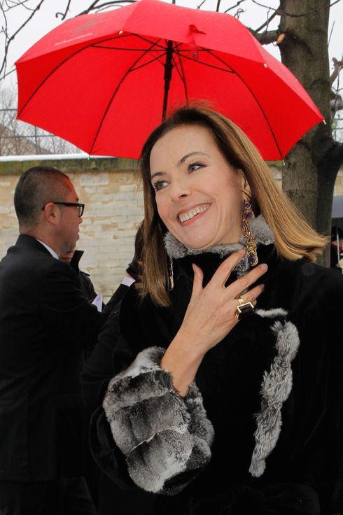PARIS, FRANCE - JANUARY 21:  Carole Bouquet arrives to attend the Christian Dior Spring/Summer 2013 Haute-Couture show as part of Paris Fashion Week at on January 21, 2013 in Paris, France.  (Photo by Petroff/Dufour/French Select via Getty Images)