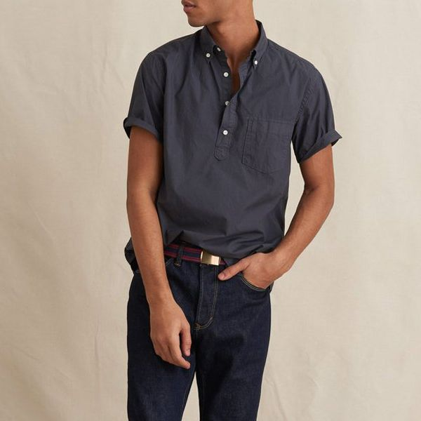 Alex Mill Short Sleeve Popover Shirt in Paper Cotton