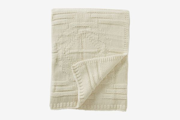 Pendleton White Santa Clara Textured Knit Wool Throw