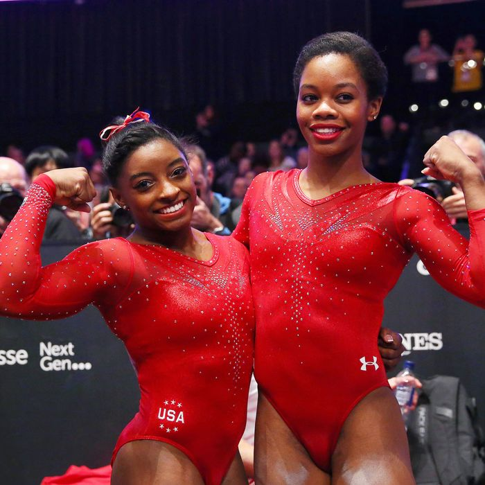 Two different Olympic gymnasts.