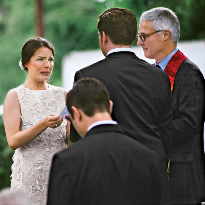 The bride wasn't expecting to be so emotional.