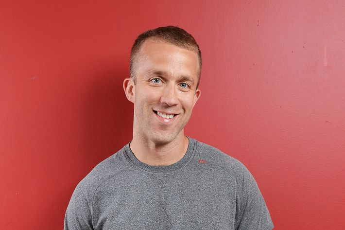 Author/public speaker Tucker Max poses for a potrait before the Off-Broadway opening night of his play