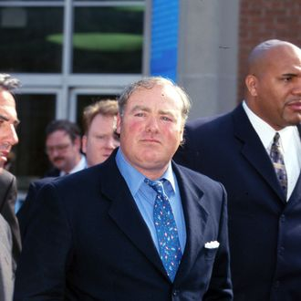 Oct. 23, 2013 - A Connecticut judge ordered a retrial for Michael Skakel, nephew of the late Robert F. Kennedy, who was convicted in the 1975 murder of his teenage neighbor Martha Moxely. Skakel was sentenced to 20 years to life in prison. PICTURED: March 14, 2002 - Norwalk, Connecticut, U.S. - MICHAEL SKAKEL at his court hearing for the murder of Martha Moxely. Moxley (15) was found murdered outside her home on October 30th, 1975. Skakel (42) was found guilty of the 1975 murder of Moxley June 7th 2002. (Credit Image: ? Nancy Kaszerman/ZUMAPRESS.com)