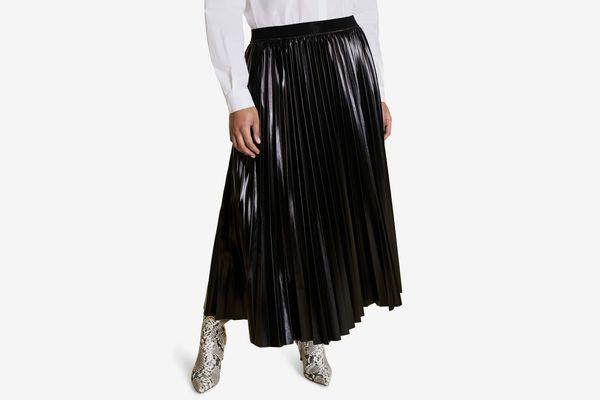 Marina Rinaldi Occulto Pleated Skirt