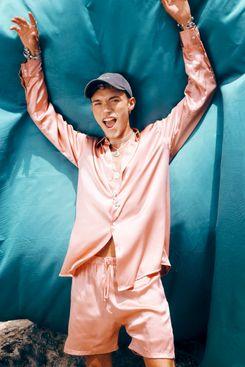 Gitano Souk Silk Shirt Pink