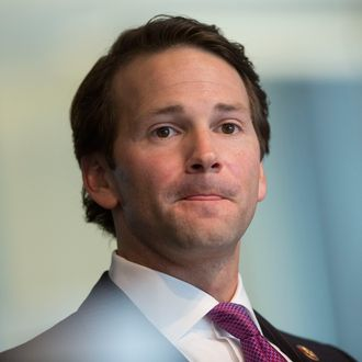 Representative Aaron Schock, a Republican from Illinois, pauses while speaking during an interview in Washington, D.C., U.S., on Thursday, Jan. 9, 2014.