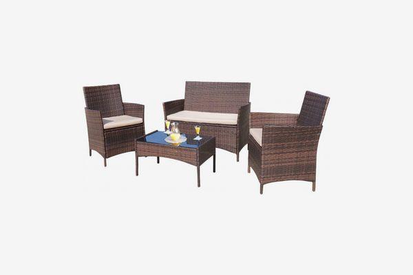 Homall Four-Piece Outdoor Patio-Furniture Set