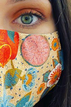 Fabric Face Mask — Tropical Print