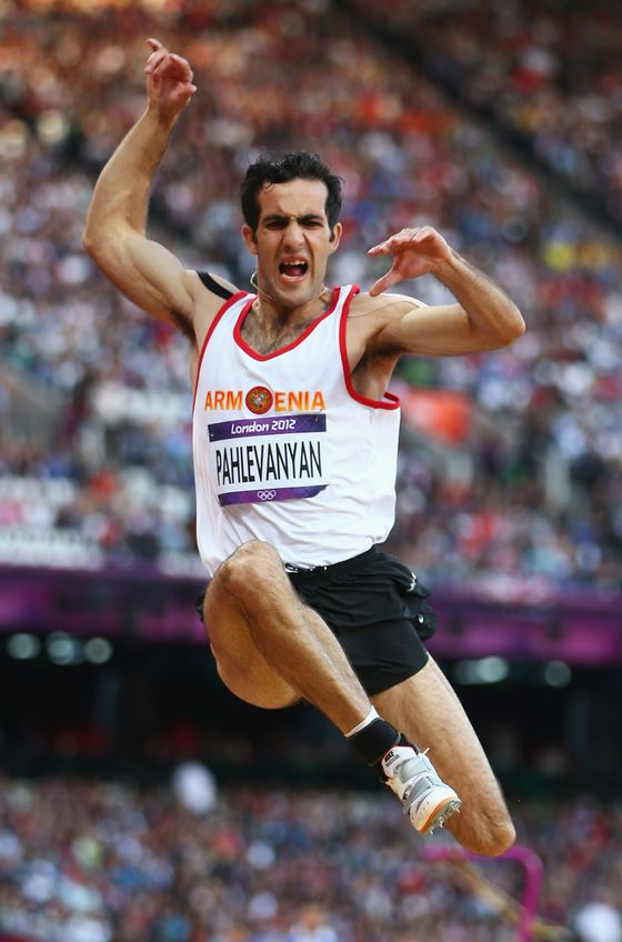 Vardan Pahlevanyan of Armenia competes in the Men's Long Jump qualification on Day 7 of the London 2012 Olympic Games at Olympic Stadium on August 3, 2012 in London, England.