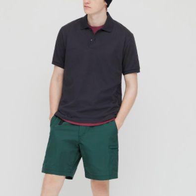 Uniqlo Men Dry Pique Short-Sleeve Polo Shirt