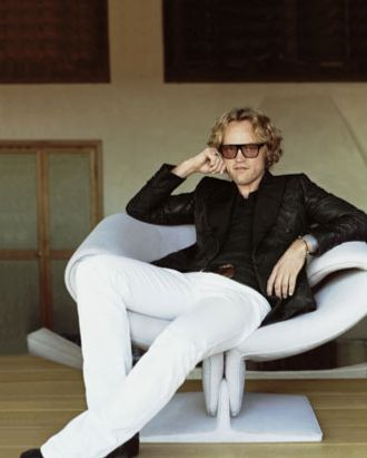 Peter Dundas, photographed for <em>Harper's Bazaar</em>.