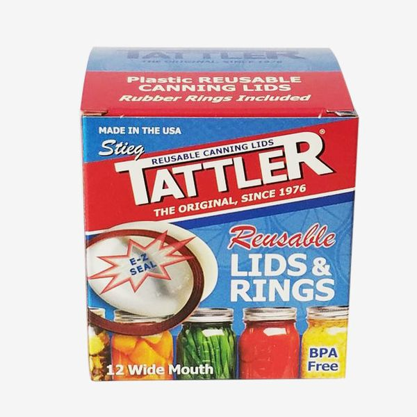 Tattler Reusable E-Z Seal Wide Lids and Rings
