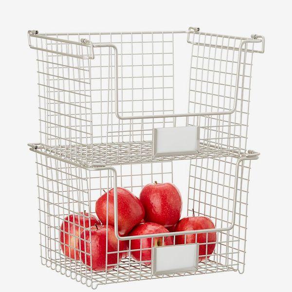 iDesign Nickel Stackable Basket