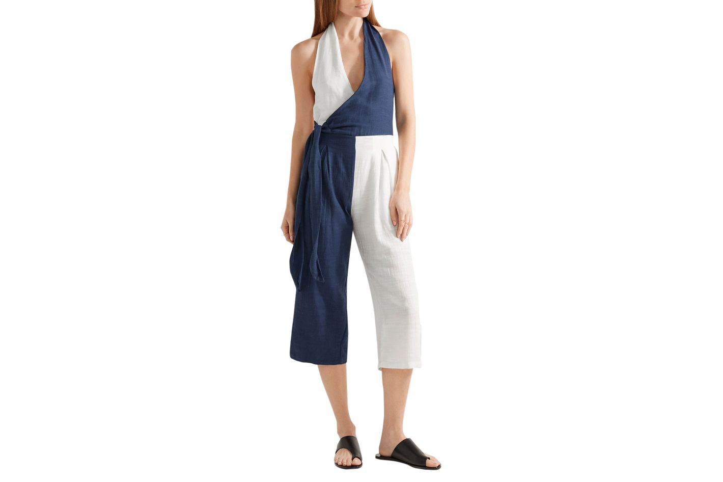 Solid and Striped Camille Halterneck Jumpsuit